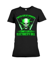 Electrician Power Premium Fit Ladies Tee thumbnail