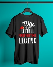 Wife Of A Ritired Firefighter Legend Classic T-Shirt lifestyle-mens-crewneck-front-3