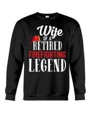 Wife Of A Ritired Firefighter Legend Crewneck Sweatshirt thumbnail