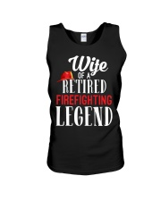 Wife Of A Ritired Firefighter Legend Unisex Tank thumbnail