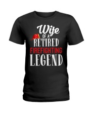 Wife Of A Ritired Firefighter Legend Ladies T-Shirt thumbnail