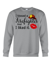 I Kissed A Firefighter And I Liked It Crewneck Sweatshirt thumbnail