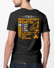 Heavy Equipment Operator Brotherhood Classic T-Shirt lifestyle-mens-crewneck-back-5