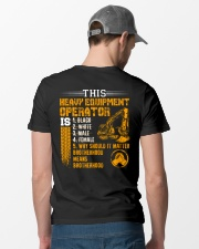 Heavy Equipment Operator Brotherhood Classic T-Shirt lifestyle-mens-crewneck-back-6