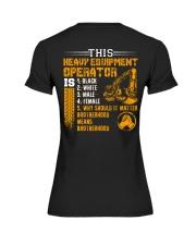 Heavy Equipment Operator Brotherhood Premium Fit Ladies Tee thumbnail