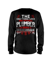 Plumber Is Being A Grandpa Long Sleeve Tee thumbnail