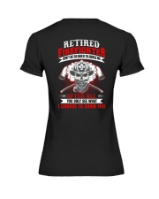 Retired firefighter Don't be so quick to judge Premium Fit Ladies Tee thumbnail