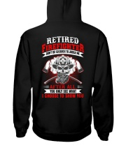 Retired firefighter Don't be so quick to judge Hooded Sweatshirt thumbnail