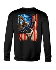 Heavy Equipment Operator Flag Crewneck Sweatshirt thumbnail