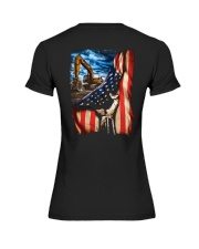Heavy Equipment Operator Flag Premium Fit Ladies Tee thumbnail