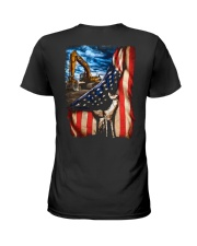 Heavy Equipment Operator Flag Ladies T-Shirt thumbnail