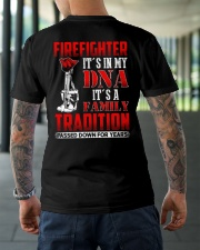 Firefighter It's In  My DNA iT'S A Family Traditio Classic T-Shirt lifestyle-mens-crewneck-back-3