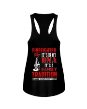 Firefighter It's In  My DNA iT'S A Family Traditio Ladies Flowy Tank thumbnail