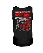 I Am A Grumpy Welder I'm Allergic To Stupidity Unisex Tank tile