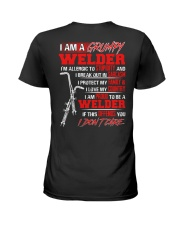I Am A Grumpy Welder I'm Allergic To Stupidity Ladies T-Shirt thumbnail