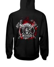 Firefighter Fire Rescue Hooded Sweatshirt back
