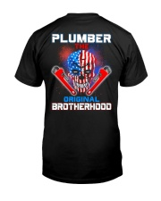 Plumber The Original Brotherhood Classic T-Shirt back
