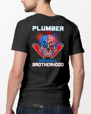 Plumber The Original Brotherhood Classic T-Shirt lifestyle-mens-crewneck-back-5