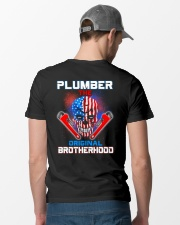 Plumber The Original Brotherhood Classic T-Shirt lifestyle-mens-crewneck-back-6