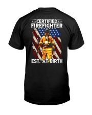 Firefighter Est AT Birth Classic T-Shirt back