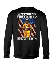Firefighter Est AT Birth Crewneck Sweatshirt thumbnail