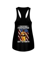 Firefighter Est AT Birth Ladies Flowy Tank thumbnail