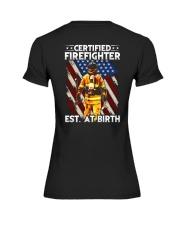 Firefighter Est AT Birth Premium Fit Ladies Tee thumbnail