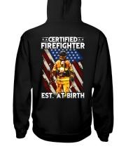 Firefighter Est AT Birth Hooded Sweatshirt thumbnail