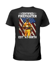 Firefighter Est AT Birth Ladies T-Shirt thumbnail