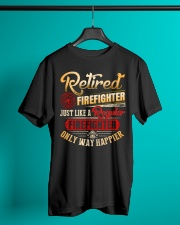 Retired Firefighter Just Like A Regular Classic T-Shirt lifestyle-mens-crewneck-front-3