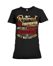 Retired Firefighter Just Like A Regular Premium Fit Ladies Tee thumbnail