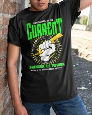 Electrician Keeper Of The Current Classic T-Shirt apparel-classic-tshirt-lifestyle-27