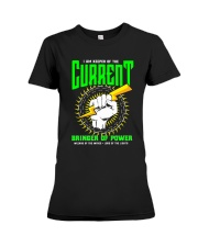 Electrician Keeper Of The Current Premium Fit Ladies Tee thumbnail