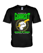 Electrician Keeper Of The Current V-Neck T-Shirt thumbnail