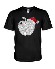 Apple Teacher Shirt V-Neck T-Shirt thumbnail