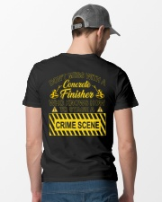 Don't Mess With A Concrete Finisher Classic T-Shirt lifestyle-mens-crewneck-back-6