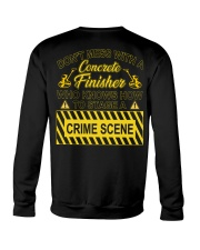 Don't Mess With A Concrete Finisher Crewneck Sweatshirt thumbnail