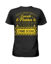 Don't Mess With A Concrete Finisher Ladies T-Shirt thumbnail