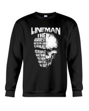 Lineman Nice To People Know How To Do My Job Crewneck Sweatshirt thumbnail