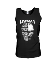 Lineman Nice To People Know How To Do My Job Unisex Tank thumbnail