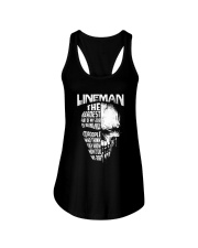 Lineman Nice To People Know How To Do My Job Ladies Flowy Tank thumbnail