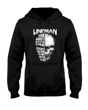Lineman Nice To People Know How To Do My Job Hooded Sweatshirt front