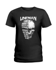 Lineman Nice To People Know How To Do My Job Ladies T-Shirt thumbnail