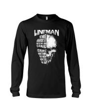 Lineman Nice To People Know How To Do My Job Long Sleeve Tee thumbnail