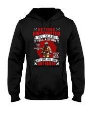 Retired Firefighter My scars tell a story Hooded Sweatshirt thumbnail