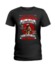 Retired Firefighter My scars tell a story Ladies T-Shirt thumbnail
