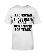 Electrician Social Distancing Classic T-Shirt front