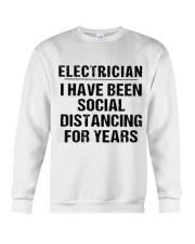 Electrician Social Distancing Crewneck Sweatshirt thumbnail