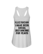 Electrician Social Distancing Ladies Flowy Tank thumbnail