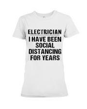 Electrician Social Distancing Premium Fit Ladies Tee thumbnail